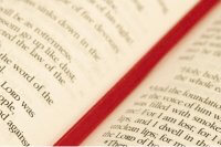 Bible with red bookmark