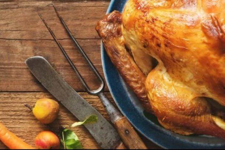 Thanksgiving Turkey on table